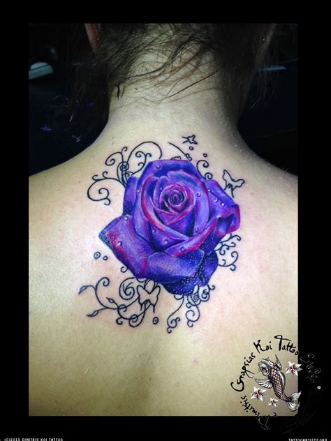violet and rose tattoo cliserpudo black and purple images