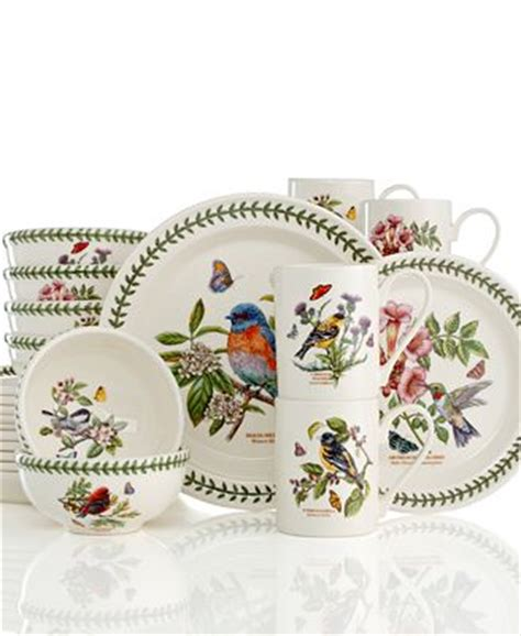 Portmeirion Botanic Garden Flatware Portmeirion Dinnerware Botanic Garden Birds Collection Dinnerware Dining Entertaining