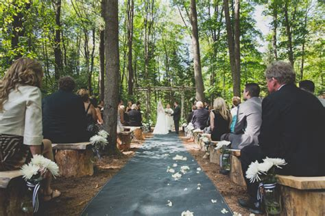 outdoor wedding reception ontario an enchanted forest themed wedding in huntsville