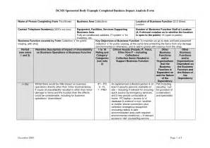 impact assessment template business impact analysis template best business template