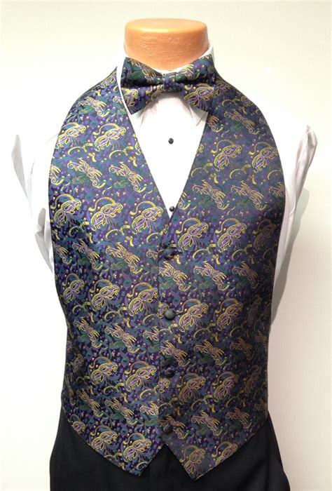 mardi gras masquerade vest and bow tie rental s tuxedo