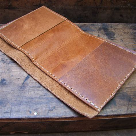 Leather Wallet Handmade - handmade printed leather wallet by bobby rocks