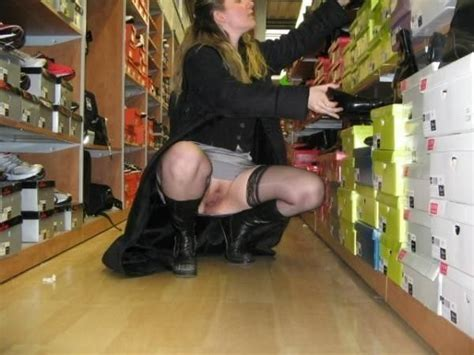 Upskirt Shoe Shopping