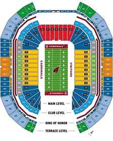 of arizona stadium map cardinals stadium map mapsof net