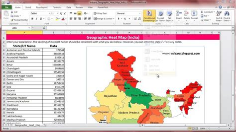 excel heat map template geographic heat map india excel template how to change