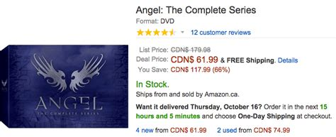 one day film amazon amazon canada one day deals get angel the complete