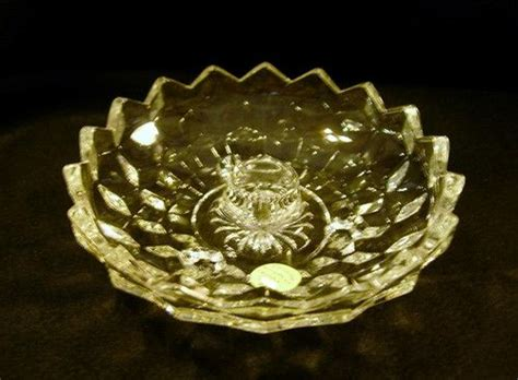 candele americane fostoria american whitehall candle holder bowl clear