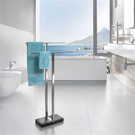 Modern Bathroom Towel Rack Modern Bathroom Blomus Menoto Towel Rack Stainless Steel