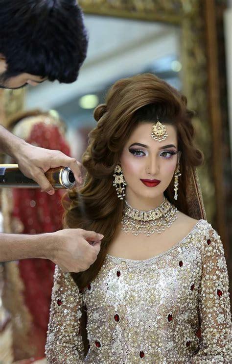bridal hairstyles on tune pk toooooooooooo much beautiful