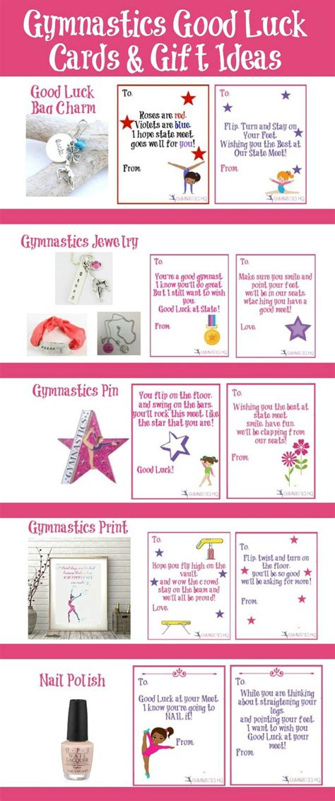 printable gymnastics bookmarks gymnastics good luck gift ideas along with free printable