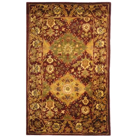 wine rug safavieh antiquity wine 3 ft x 5 ft area rug at57b 3 the home depot