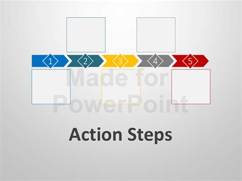 Action Steps Editable Powerpoint Template Editable Powerpoint Templates