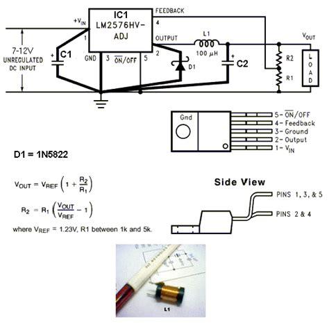 3v power supply circuit diagram lm2576 adj 3v 3a switching regulator circuit power