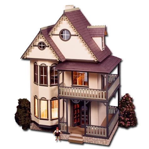 victorian doll house kit 1 12 gothic tennyson victorian wood dollhouse kit 5 room fireplace working doors ebay