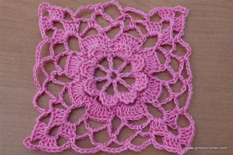 Square Flowy Motif 4 crocheted skirt pattern