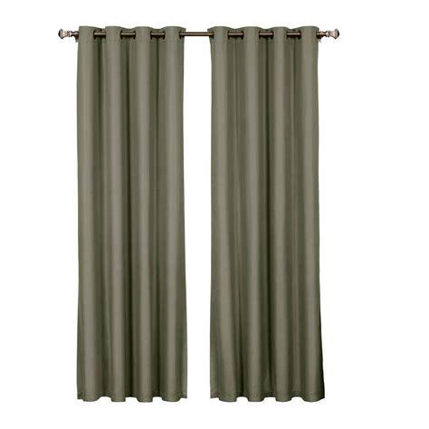 Curtain L 3 microfiber room darkening charcoal grommet curtain panel 54 in w x 95 in l
