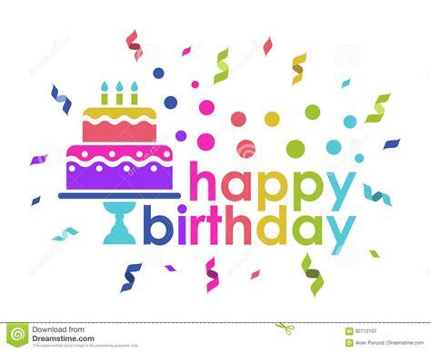 happy birthday text design free happy birthday text and cake and ribbon rainbow color