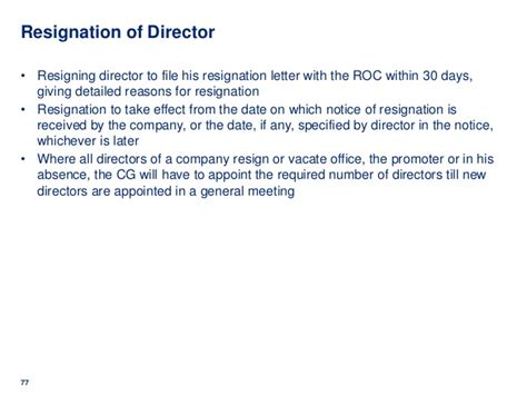 Resignation Letter Format As Per Companies Act 2013 Resignation Letter 187 Company Director Resignation Letter