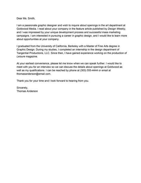 letter of interest for employment sample letter of interest for