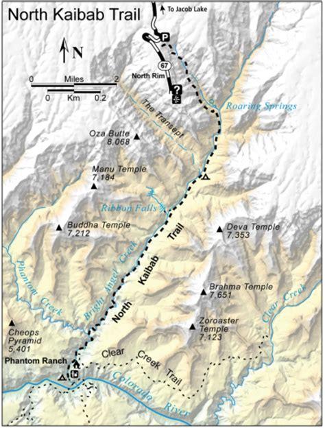 grand map south kaibab trail kaibab trail exploring grand