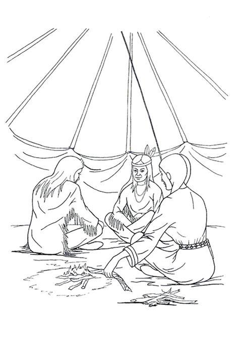 disegni tende disegno da colorare casa indiani tenda tipi cat 9915