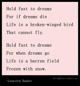Deferred is a dream denied poetry scripture from langston hughes