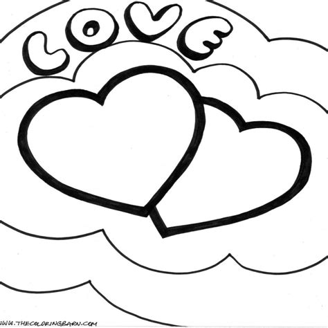 imagenes de amor para pintar y colorear dibujos animados de corazones para colorear