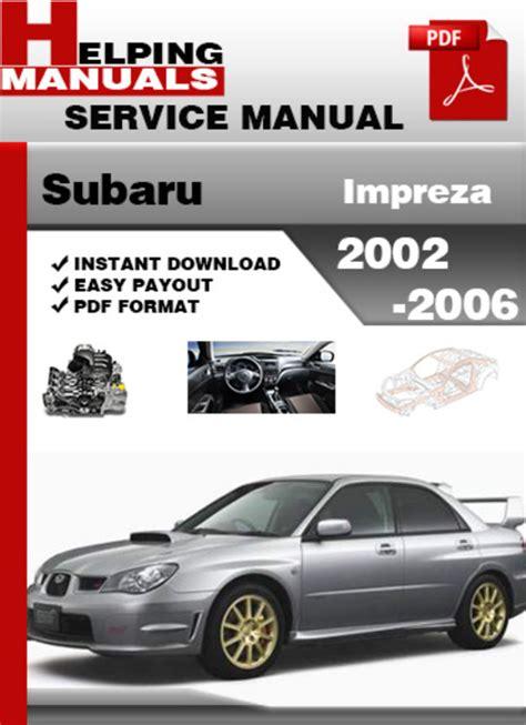 service repair manual free download 2010 subaru impreza wrx head up display subaru impreza 2002 2006 service repair manual download download