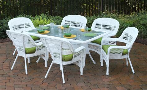 Lowes Kids Rugs Tortuga 13pc Portside White Wicker Patio Dining Set Fabric