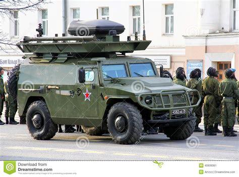 gaz tigr victory day 2014 in yekaterinburg russia editorial photo