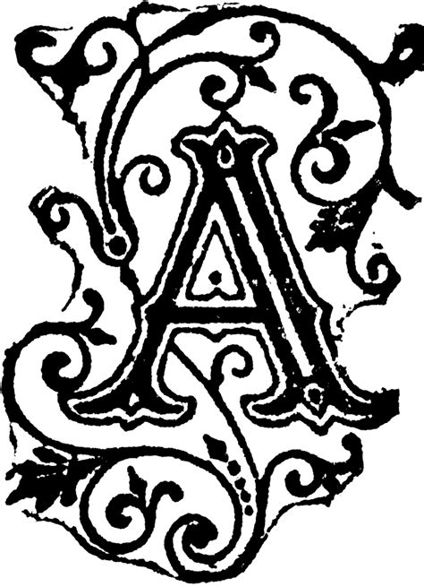 fancy letter a designs clipart best