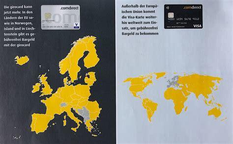 kreditkarte kostenlos bargeld mit der gratis comdirect kreditkarte und girocard