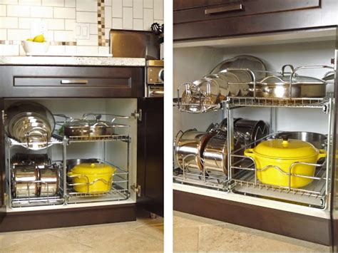 lowes kitchen cabinet organizers pot and pan organizer from lowes kitchen renovation