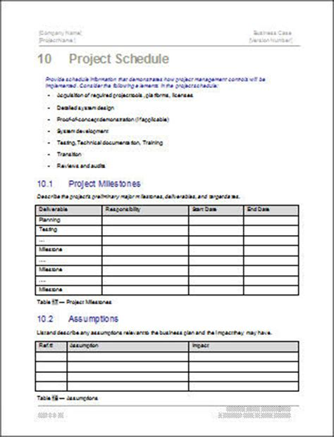 business case template 22 pages ms word with free sle