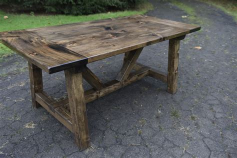 Handmade Farmhouse Tables - the logan handcrafted farmhouse table