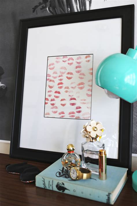 Pictures For A Dining Room Wall by Lipstick Art Inspiration A Beautiful Mess