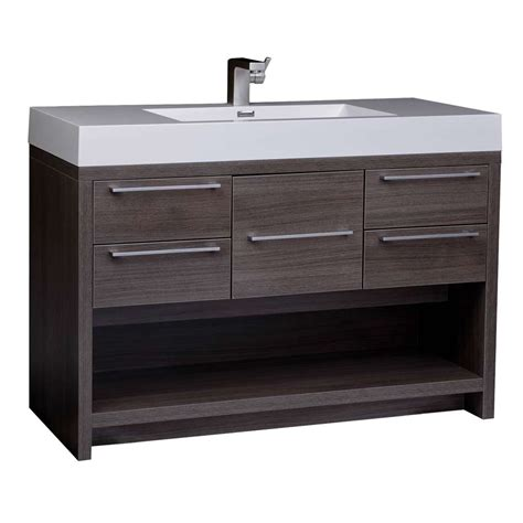 bathroom canity 47 quot modern wall mount bathroom vanity set grey oak free shipping finish tn l1200 go