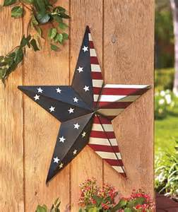 Metal Star Home Decor by 24 Quot Patriotic Americana Large Scale Barn Star Home Decor