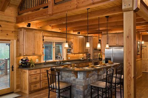 Log Cabin Kitchens with Modern and Rustic Style