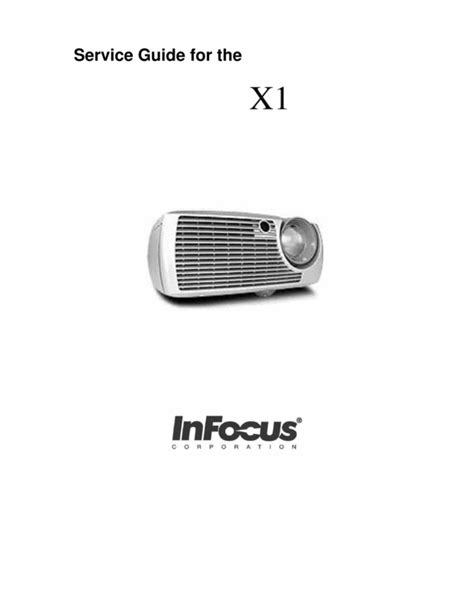 Lu Lcd Projector Infocus infocus x1 projector service manual manuals