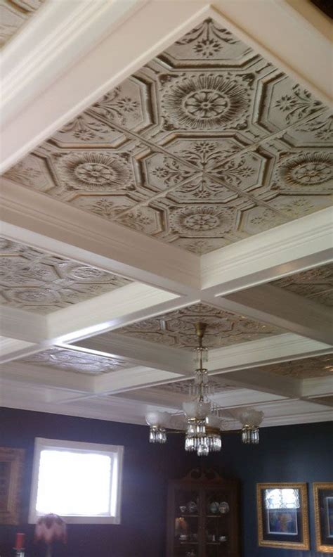 tin room tin ceiling with block partitions for my new dining room but tin will to be a different