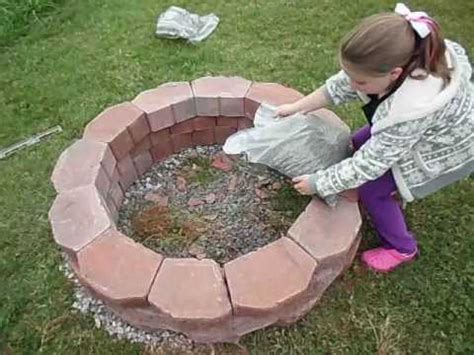 how to make a fire pit in your backyard how to easily build a fire pit youtube