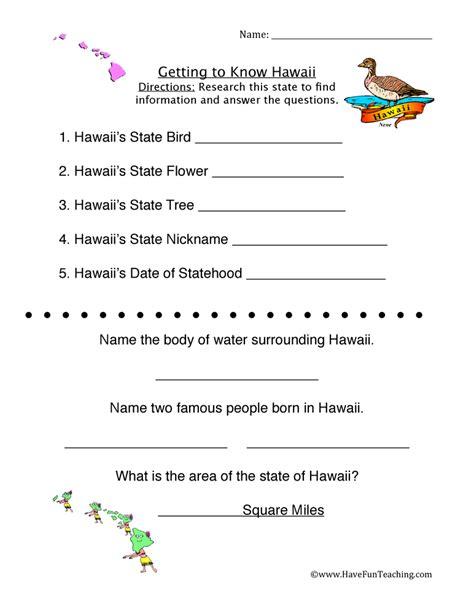 Hawaii Worksheets hawaii worksheets teaching