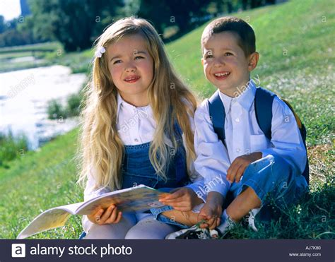 sister style brother hair child children boy girl blonde long hair sister brother