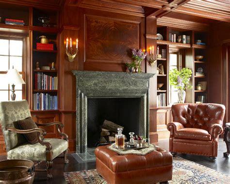 library fireplace houzz