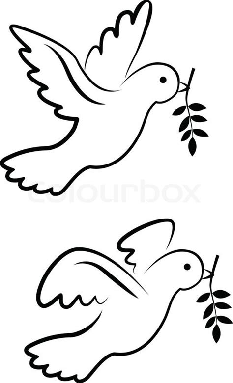 vector dove symbol stock vector colourbox