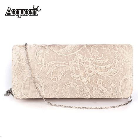 Pouch Tas Kosmetik Longch Promo 18 aliexpress buy aequeen bridal wedding satin evening bags lace floral day pouch clutches