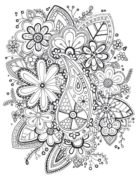 zentangle coloring pages free printable coloring pages
