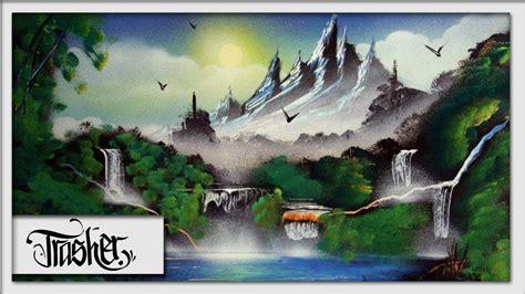 Spray Paint Landscape By Trasher