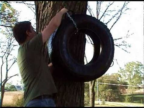 how to make a vertical tire swing how to build a tire swing doovi